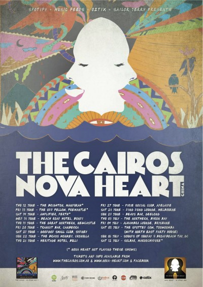 14-06-21 THE CAIROS - TOUR POSTER